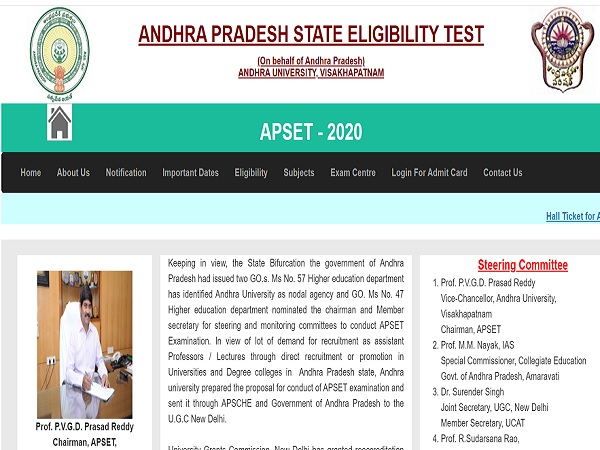 APSET Admit Card 2020 Released
