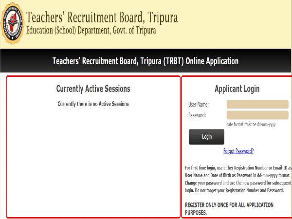Tripura TRB Recruitment 2020 For 3,841 Graduate Teachers And Under Graduate Teachers, Apply Online Before December 8