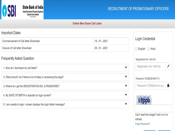 SBI PO Mains Admit Card 2021 Released