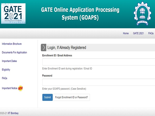 GATE 2021 Answer Key Released