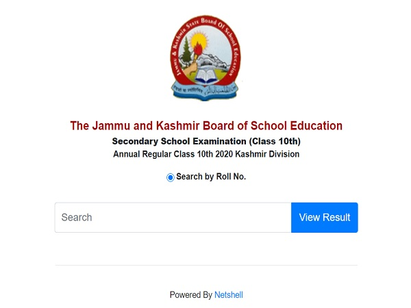 JKBOSE Class 10th Result 2020 Released