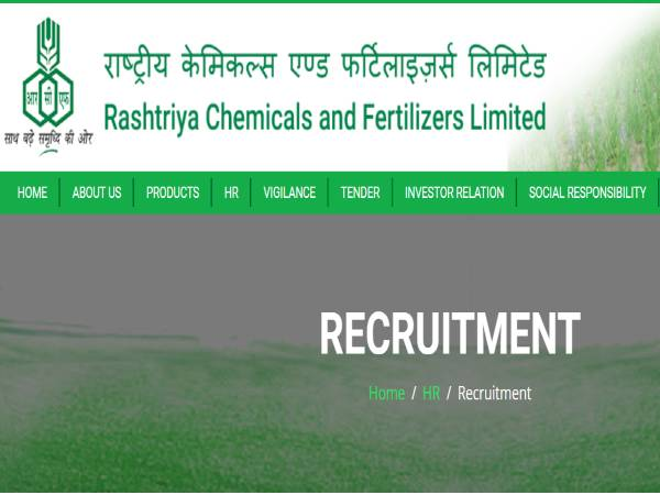 RCFL Recruitment 2021: Managers, Chief Managers