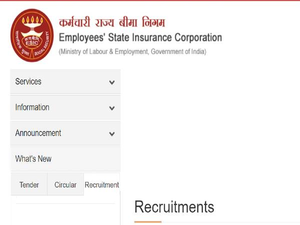ESIC Recruitment 2021: 16 AEE, Executive Engineer