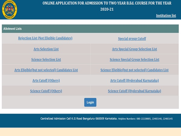 Karnataka BEd Result 2021 Declared At schooleducation.kar.nic.in