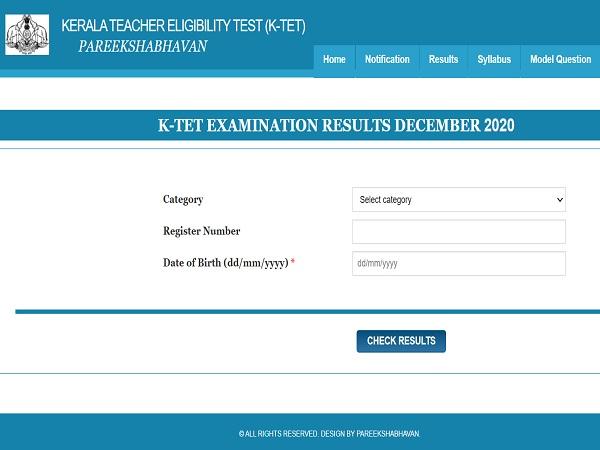 Kerala TET Result For December 2020 Released