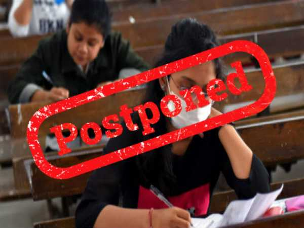 Check The Full List Of Exams Postponed/Cancelled