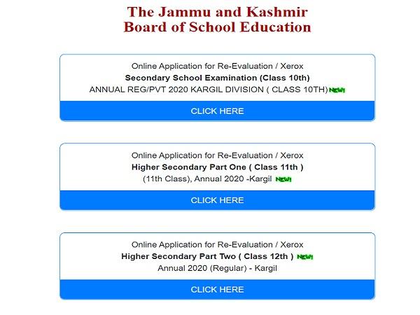 JKBOSE Result 2020 For Kargil Division Declared