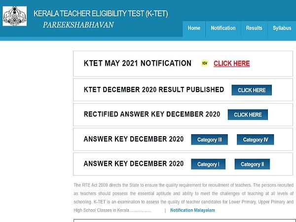 Kerala KTET 2021 May Session Details