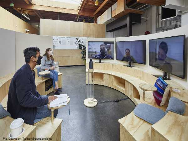 Google CEO Sundar Pichai Lays Out 'Hybrid' Workplace Model, 20% Staff To Permanently Work From Home