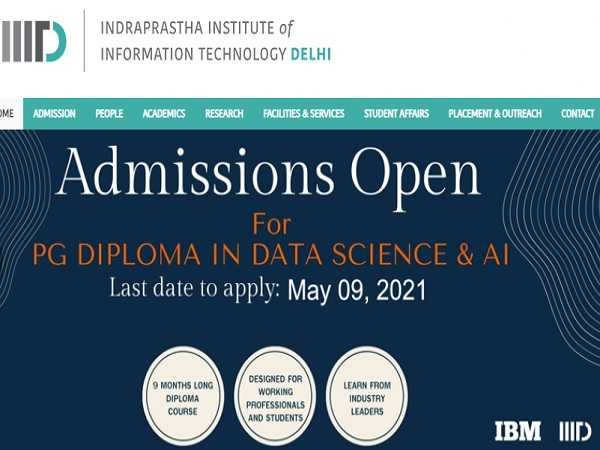 IIIT Delhi Offering PG Diploma in Data Science and Artificial Intelligence