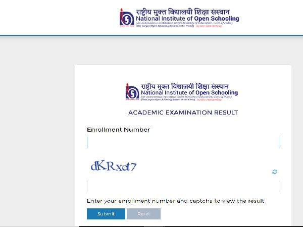 NIOS On Demand Result 2021 Declared For Class 10th And Class 12th