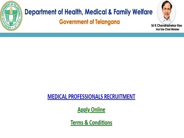 Telangana Medical Recruitment 2021: Apply Online For 50000 MBBS And Nurse Vacancies Before May 22