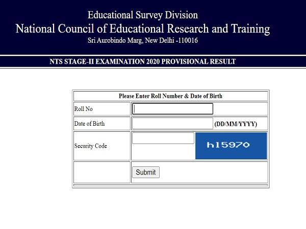 NTSE Result 2020 Declared