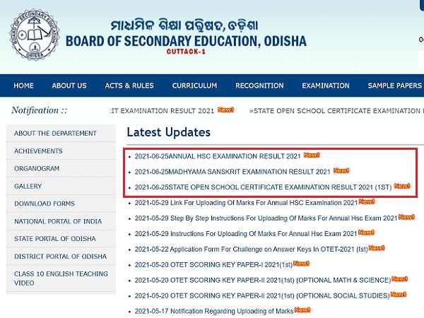 Odisha Madhyama Result And Open School Exam Result 2021 Declared