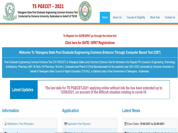 TS PGECET Admit Card 2021: How To Download At pgecet.tsche.ac.in
