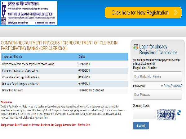 IBPS CRP Clerk XI Notification 2021 Released For 5,830 IBPS Clerks Recruitment, Apply Online Before August 1