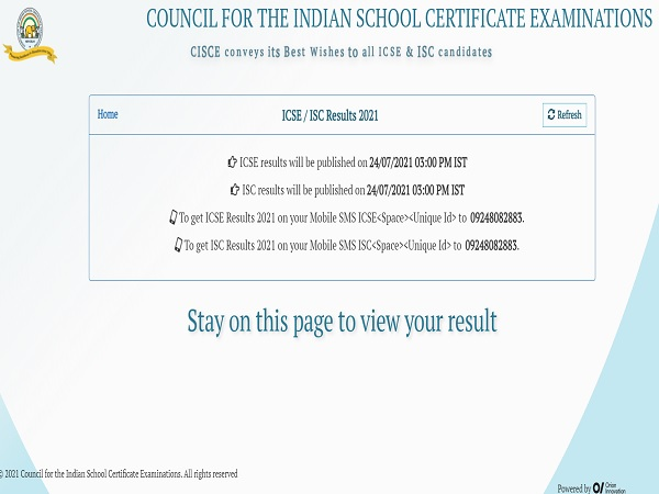 ISC Result 2021: Check CISCE ISC 12th Result 2021 Link