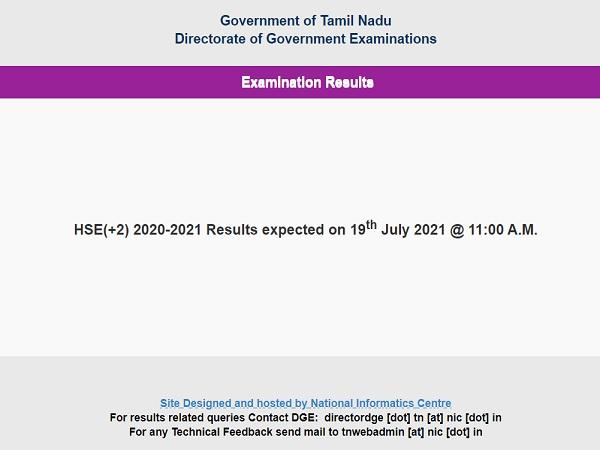 TN HSC Result 2021 Live Updates