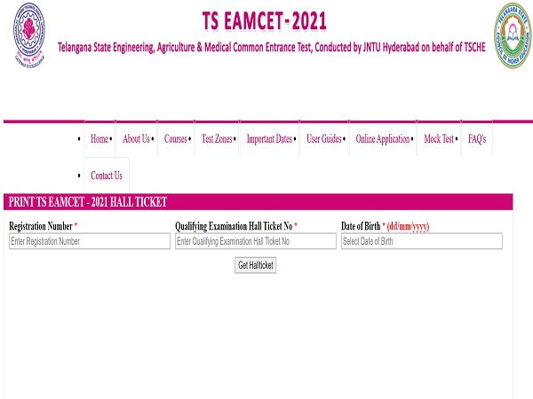 TS EAMCET Hall Ticket 2021 Released, Check Download Link