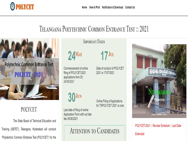TS POLYCET 2021 Hall Ticket Released