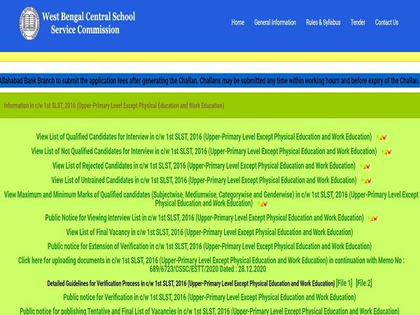 WBSSC Upper Primary Result 2021