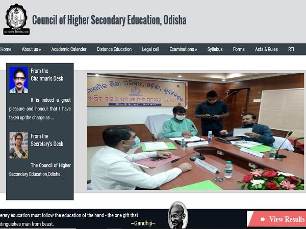 CHSE Arts Result 2021 Odisha Live Updates