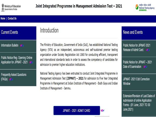 JIPMAT Admit Card 2021 Released, Download At jipmat.nta.ac.in