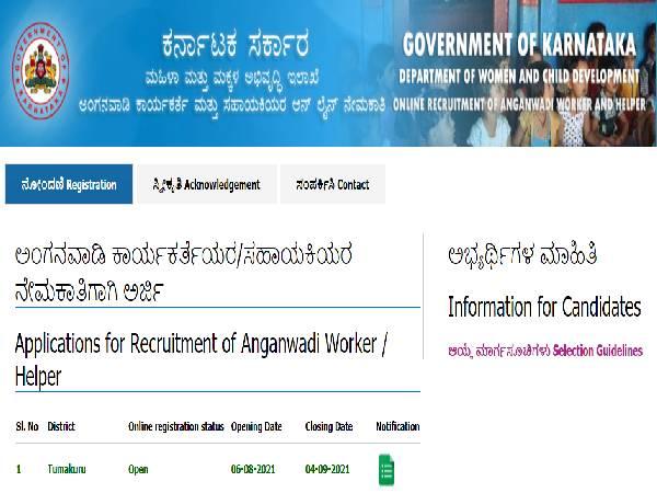 Tumakuru Anganwadi Recruitment 2021 For 358 Anganwadi Helpers And Workers Posts, Apply Before September 4