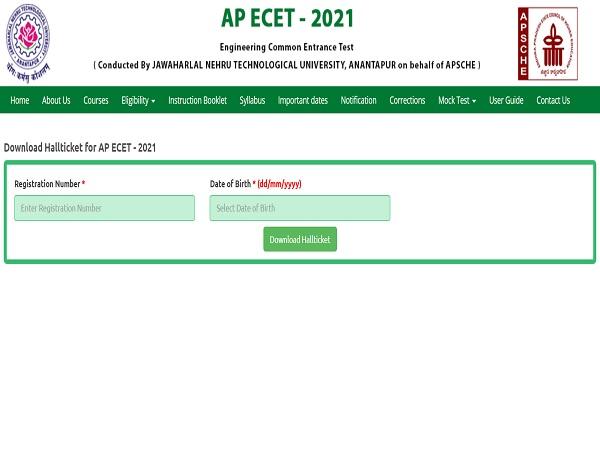 AP ECET Hall Ticket Download 2021 Link