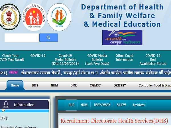 CG Health Department Recruitment 2021 For 443 Medical Officer Posts, Apply Online Before October 12