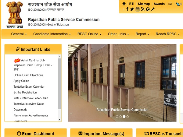 RPSC Rajasthan Police SI Admit Card 2021 Released