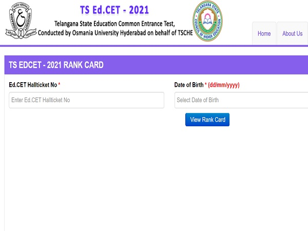 TS EdCET Results 2021 Declared, Check Direct Link