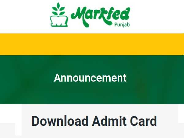 Punjab MARKFED Admit Card 2021 Released, Here's How To Download