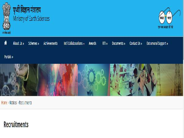 MOES Recruitment 2021 For Scientist C, Scientist D And Scientist F Posts. Apply Online Before November 12