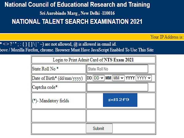NTSE Stage 2 Admit Card 2021 Released By NCERT, Check How To Download