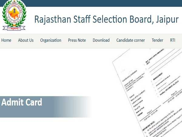 RSMSSB Patwari Admit Card 2021 Released, Check How To Download