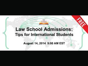 Law School Admissions: Tips for International Students – Free Webinar