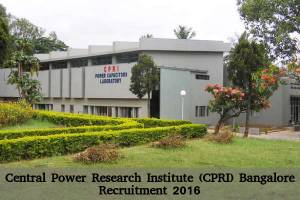 Central Power Research Institute Hiring 2016