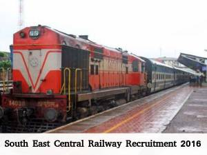 South East Central Railway Recruits Various Posts