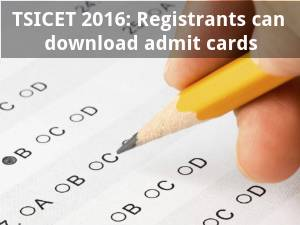 TSICET 2016: Registrants can download admit cards