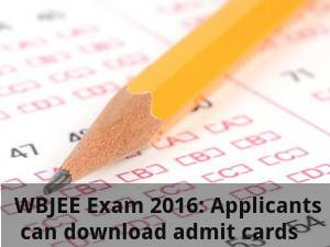WBJEE Exam 2016: Download admit cards