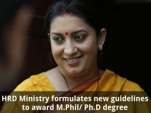 HRD's new guidelines on M.Phil/ Ph.D