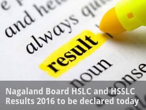 Nagaland Board HSLC,  HSSLC Results 2016 Declared