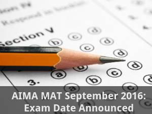 AIMA MAT September 2016: Exam Dates Announced
