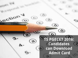 TS PGECET 2016:  Download Admit Cards