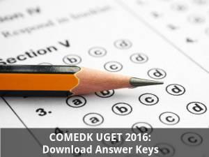 COMEDK UGET 2016: Download Answer Keys