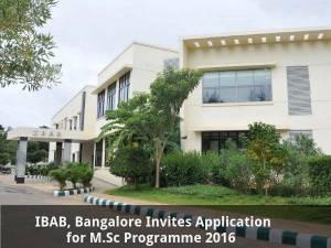 IBAB, Bangalore invites application for M.Sc