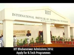 IIIT Bhubaneswar Admissions 2016: Apply for B.Tech