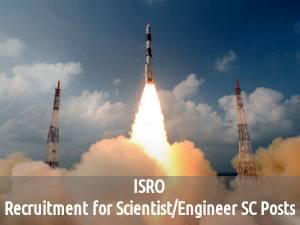 ISRO is Hiring for 375 Scientist/Engineer SC Posts