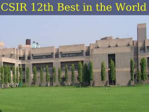 CSIR Ranked World's 12th Best Government Institute